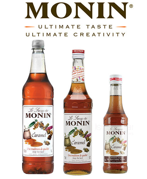 Monin Flavouring Syrups - Multiple Flavours & Sizes - For Coffee and Cocktails