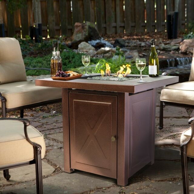 Outdoor Fire Pit Table Furniture Patio Deck Backyard Heater - Outdoor gas fire pit table and chairs