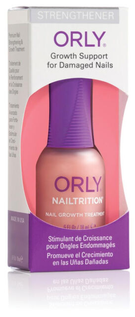Orly Nailtrition Strengthener Growth Support For Damaged Nails 0 6 Oz 18ml