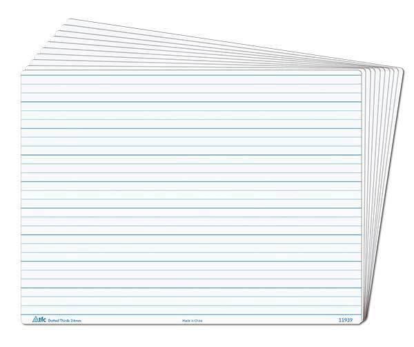 Whiteboard Dotted Thirds Write N Wipe Desk A4 (1 Piece) Writing Teacher Resource