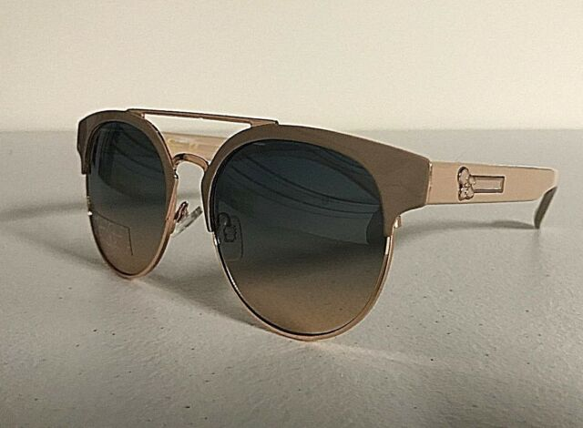 New JESSICA SIMPSON Women's Sunglasses Designer Eyewear Gradient Lens  Nude/Gold