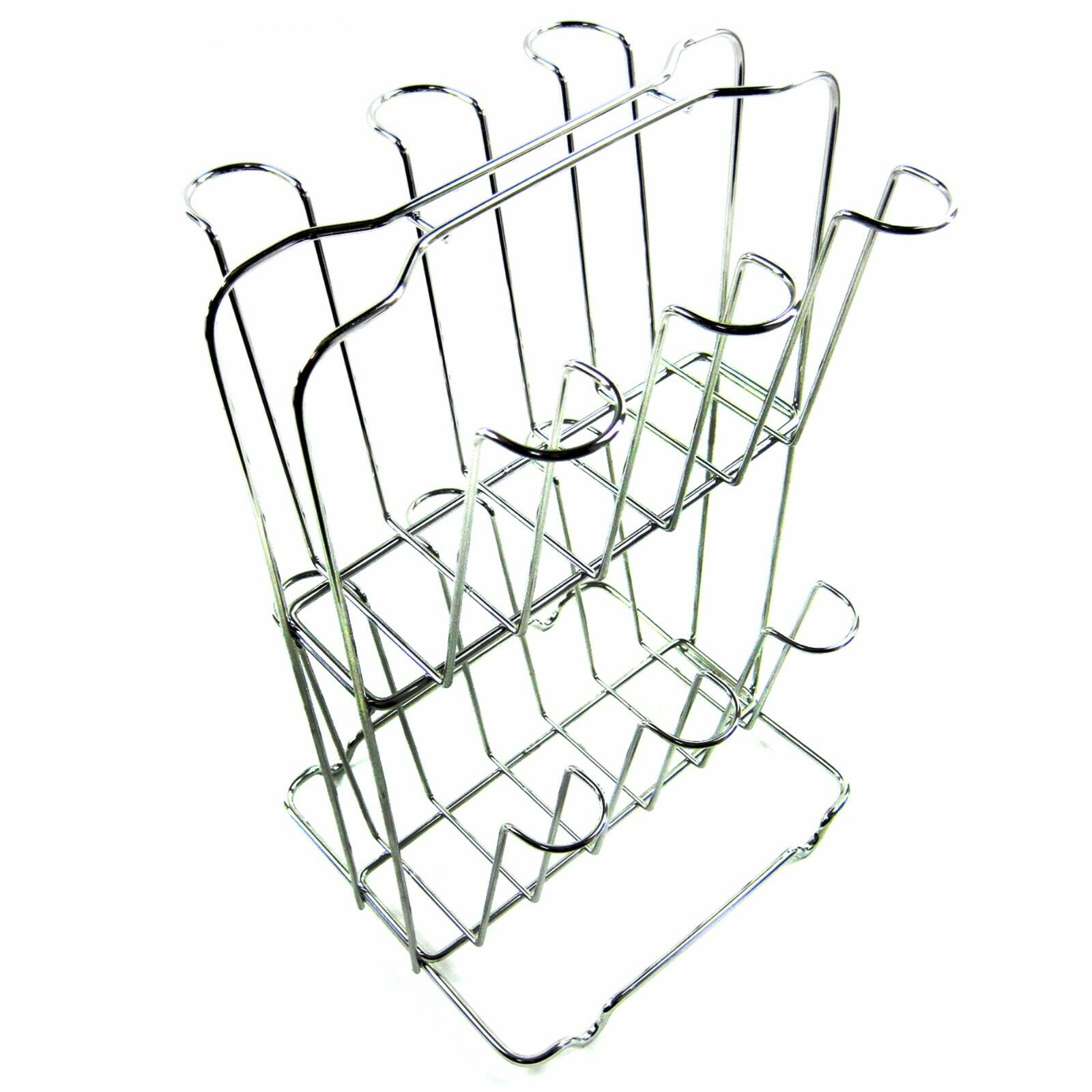 Galleon 2 Tier Stainless Steel Wire 12 Mug Cups Drying Rack Tea Cup ...