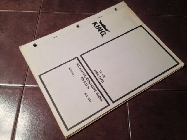 King ka 134 audio install service manual ebay king ka 134 audio install service manual publicscrutiny Image collections