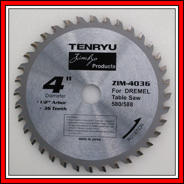 36 Tooth Carbide Blade 4 Inch By Tenryu For Dremel 580 580