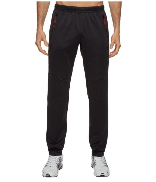 NEW Puma Ferrari SF T7 logo Sport Track Running Pants 572801 Jogger Black