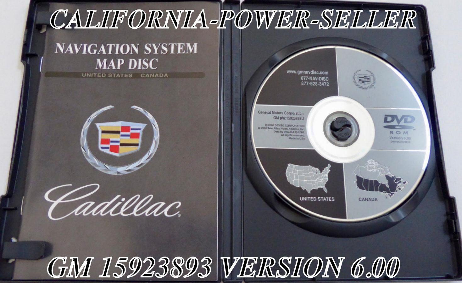 2004 2005 2006 2007 Cadillac DHS DTS Navigation Disc DVD CD 15923893