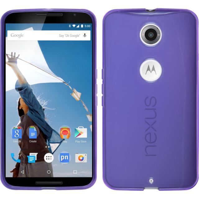 Silicone Case for Google Nexus 6 transparent purple Case
