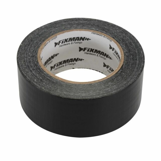 Fixman Super Heavy Duty Duct Tape 50mm x 50m (Black, White or Silver)