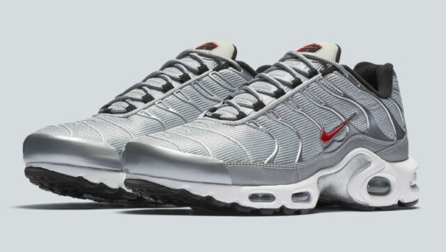 Nike Air Max Plus TN Tuned 1 Metallic Silver Bullet White Red 903827-001  Reflect