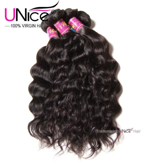 Unice 8a Indian Natural Wave Hair 3 Bundles Wavy 100 Human Hair