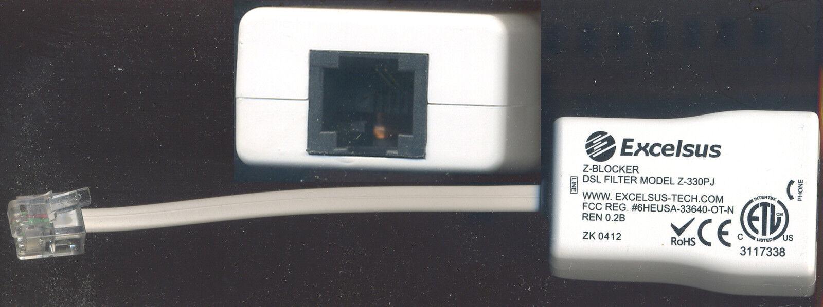 Excelsus Z-blocker DSL Filter Z-330pj Ethernet Modem Rj11 Comcast ...