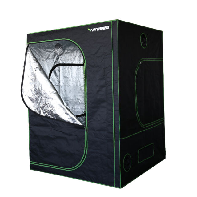VIVOSUN Hydroponic Indoor Mylar Reflective Grow Tent Room w/ Obeservation Window  sc 1 st  eBay & Hydroponic Grow Tent Indoor Mylar Hydroponics VIVOSUN 5x5 Tents ...