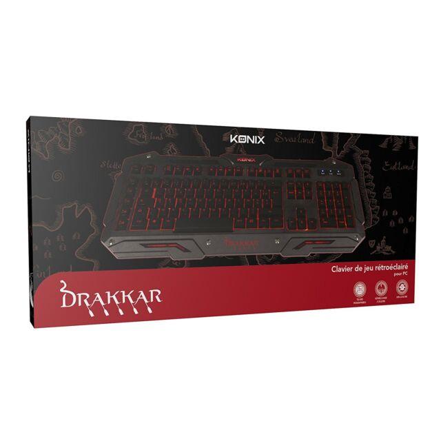 Clavier Gamer Drakkar Midgard - AZERTY PC NEUF Officiel 2000/XP/Vista/7/8/10