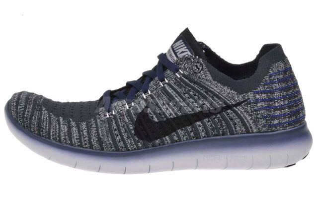 Nike Free RN Flyknit Gyakusou Lab Navy Cool Grey 844100-004 Men's Size 11.5