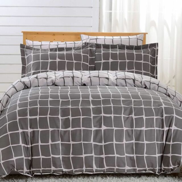 Dm606q Queen Duvet Cover Set 6 Piece 100 Soft Combed Cotton By Dolce