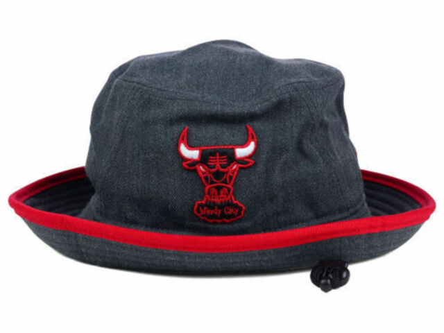 06e841f8104 ... top quality chicago bulls new era nba hwc graphite heather red trim bucket  hat cap large