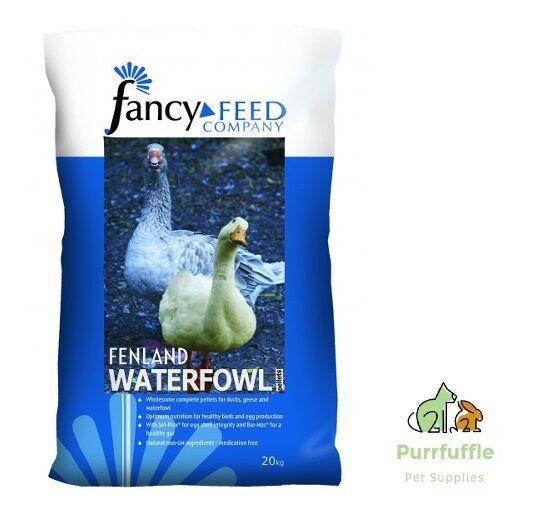 20kg FANCY FEED COMPANY FENLAND WATERFOWL PELLETS DUCK & GOOSE FOOD + OMEGA 6