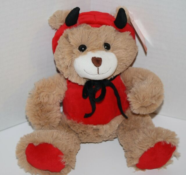 Inter American Product TEDDY BEAR 10 DEVIL Valentine Plush Stuffed Soft Toy New