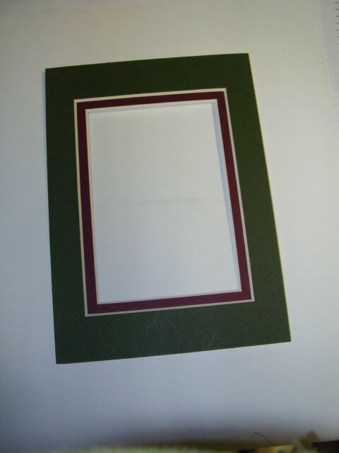 picture frame double mats 11x14 for 8x10 photo forest green with maroon liner - Double 8x10 Frame