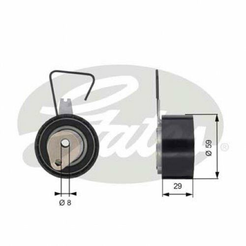 GATES Tensioner Pulley, timing belt PowerGrip® T43141