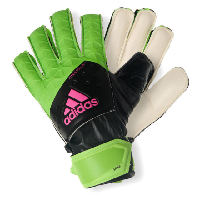 adidas Ace Fingersave Junior Goalkeeper Gloves Soccer Pro Keeper Gloves