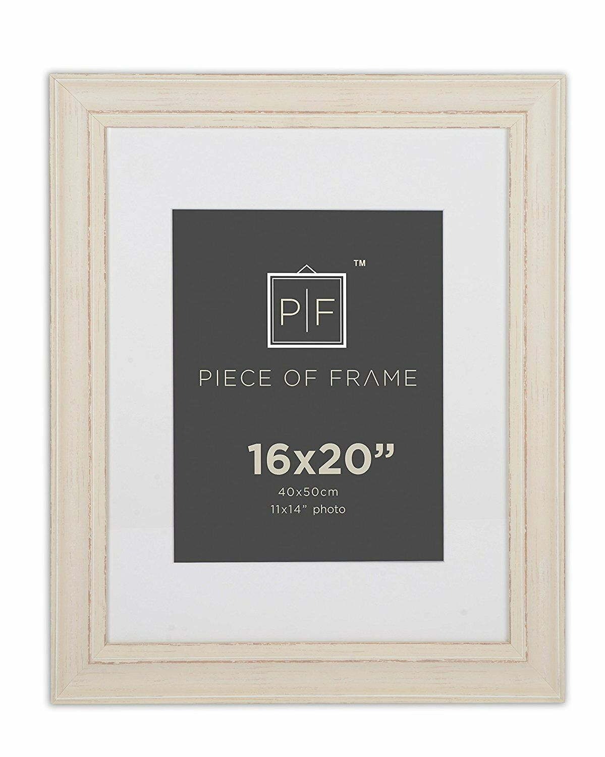 16x20 Cream Color Photo Frame Shabby Chic Pattern With Ivory Mat for ...