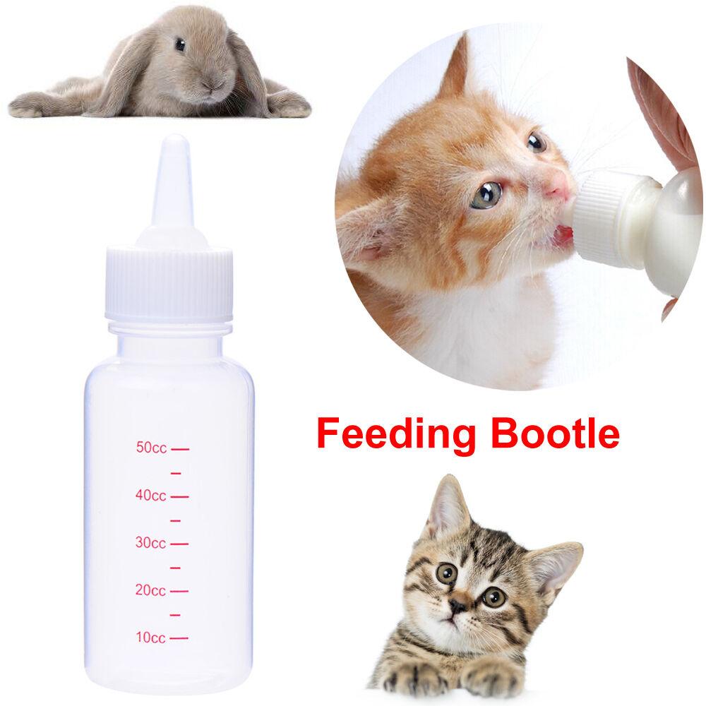 50ml Water Puppy Kitten Dog Cat Baby Feeding Pet Bottle Milk Nipple ...
