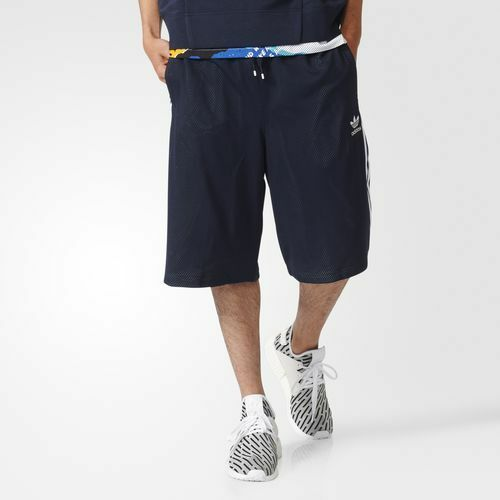 adidas Bk7735 Herren Originals La Mesh Kurze Hose Navy White Regular M