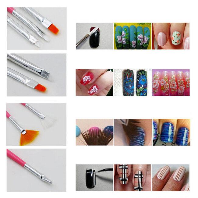 15pcs Set Nail Art Gel Design Pen Painting Polish Brush Dotting
