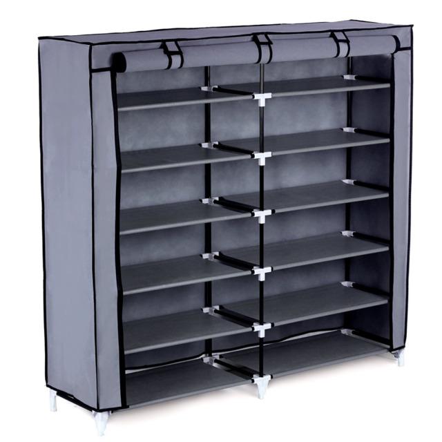 7 Tier Shoe Rack 36 Pair Portable Shoe Storage Cabinet Organizer W/ Fabric