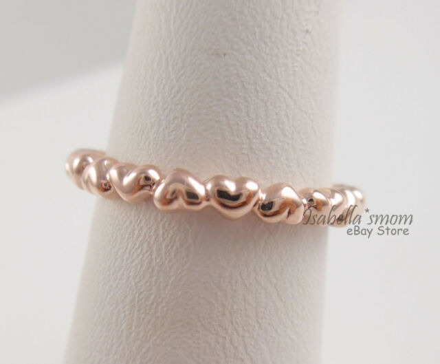 Forever Love Genuine PANDORA Rose Gold Plated Heart Stackable Band