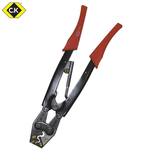 CK Long Ratchet Crimping Pliers For Bell Mouth Ferrules/Terminals 6mm-25mm T3676