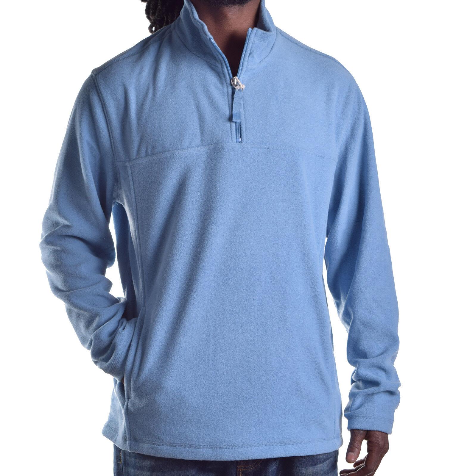 Club Room Big Sky Blue Fleece Solid Pullover Sweater Men Large L 1 ...