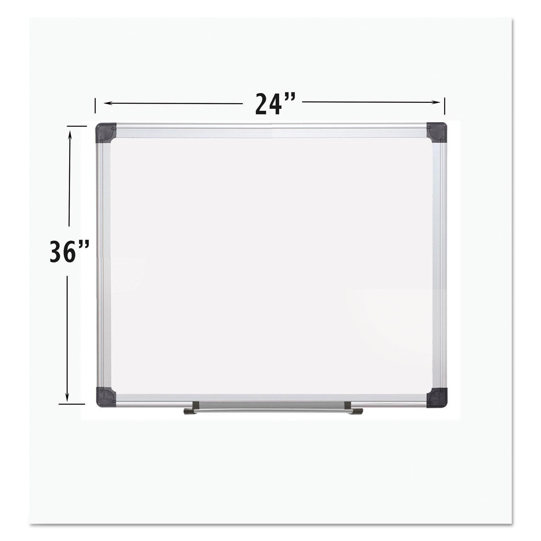 Porcelain Value Dry Erase Board 36 X 48 White Aluminum Frame as 1 ...