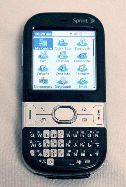 Palm Centro 690 Sprint PDA Cell Phone BLACK bluetooth internet qwerty camera MP3
