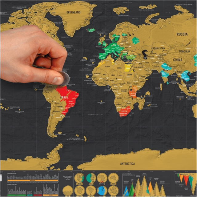 Black scratch off map small world map personal map for travel gift black scratch off map small world map personal map for travel gift 1pcs gumiabroncs Choice Image