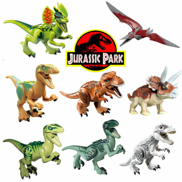 Lego Dinosaurs Building Set List: 8 Sets Jurassic World Dinosaurs Mini Figures Building Toys