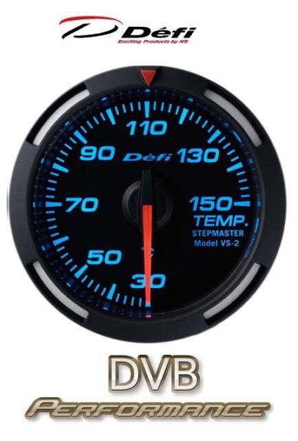 Defi Racer 52mm Car Oil Temperature Gauge - Blue - JDM Style Stepper Motor