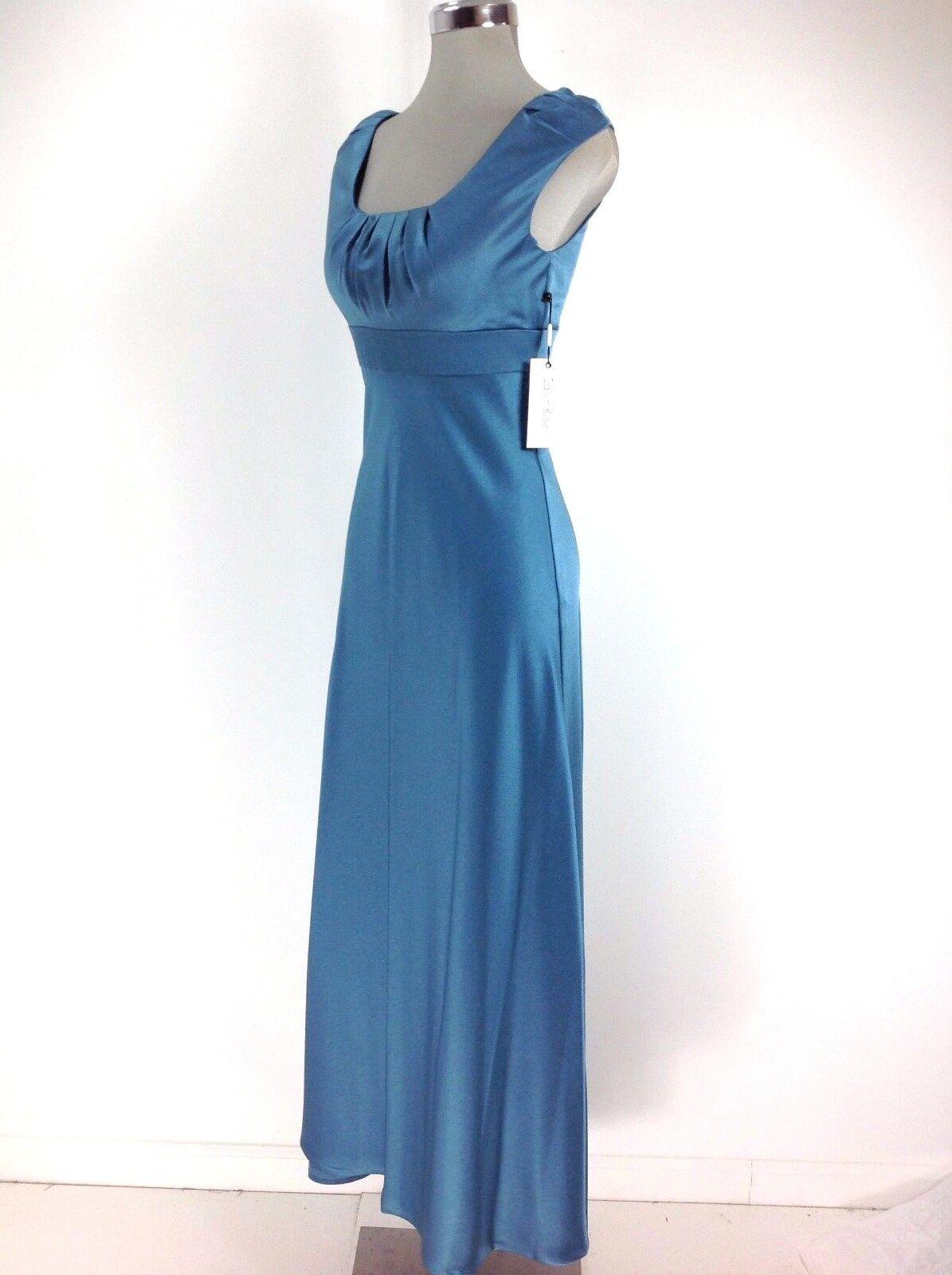 Calvin Klein WT Ice Satin Empire Waist Maxi Formal Dress Regular 8 ...