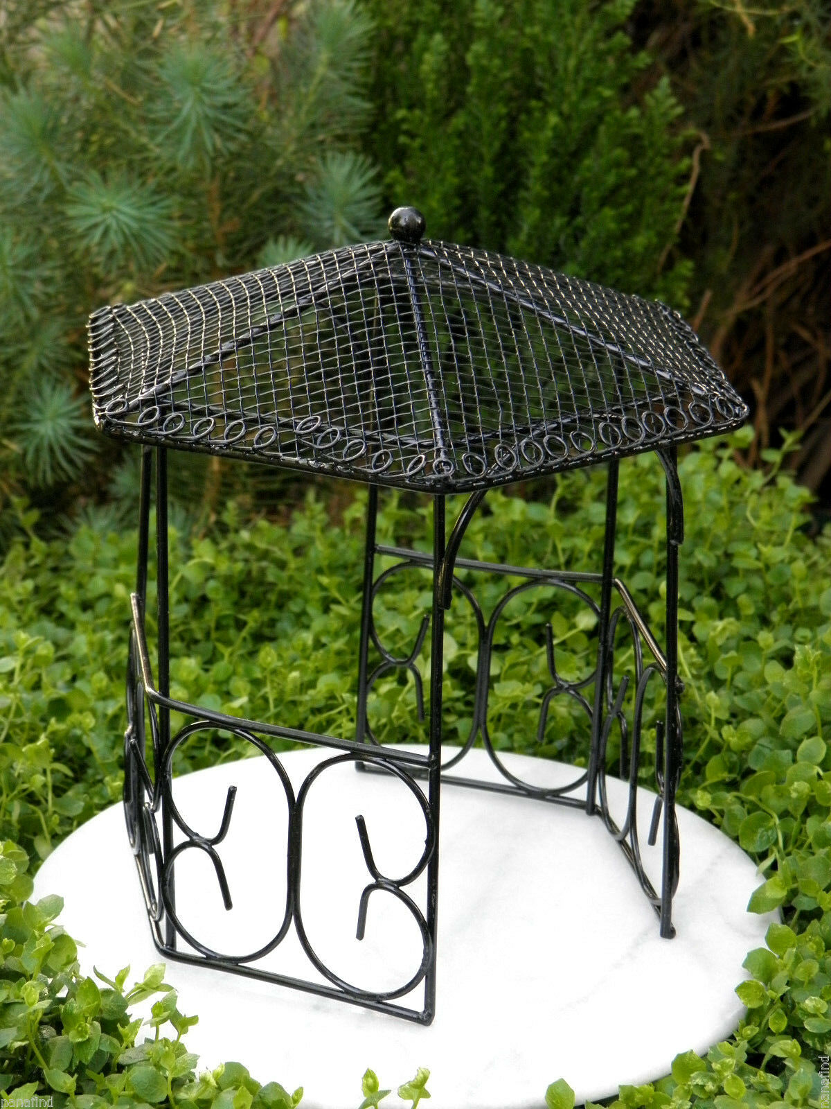 Touch of Nature Miniature Garden Gazebo 5-inch Black | eBay on miniature colonial furniture, cedar garden furniture, miniature nursery furniture, modern garden furniture, cheap garden furniture, nova garden furniture, better home and garden outdoor furniture, miniature cottage furniture, garden furniture set, miniature deck, fairies furniture, aluminum garden furniture, oasis garden patio furniture, miniature halloween furniture, garden treasure patio furniture, miniature lawn furniture, miniature garden accessories, miniature sewing room furniture, miniature restaurant furniture, fairy house furniture, miniature landscaping, miniature outdoor furniture and accessories, miniature glass furniture, miniature furniture shop, miniature mid century modern furniture, miniature furniture plans, better home and garden furniture, english garden furniture, garden furniture cushion, french garden furniture, home patio garden furniture, rustic garden furniture, white garden furniture, miniature fairy furniture, twig fairy furniture, miniature painted furniture, miniature gates,