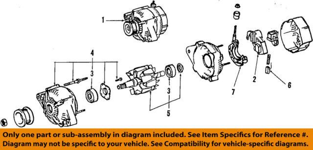 toyota oem 97 99 tacoma alternator 270606219084 ebay rh ebay com Diagram of Alternator Assembly Alternator Wiring Diagram