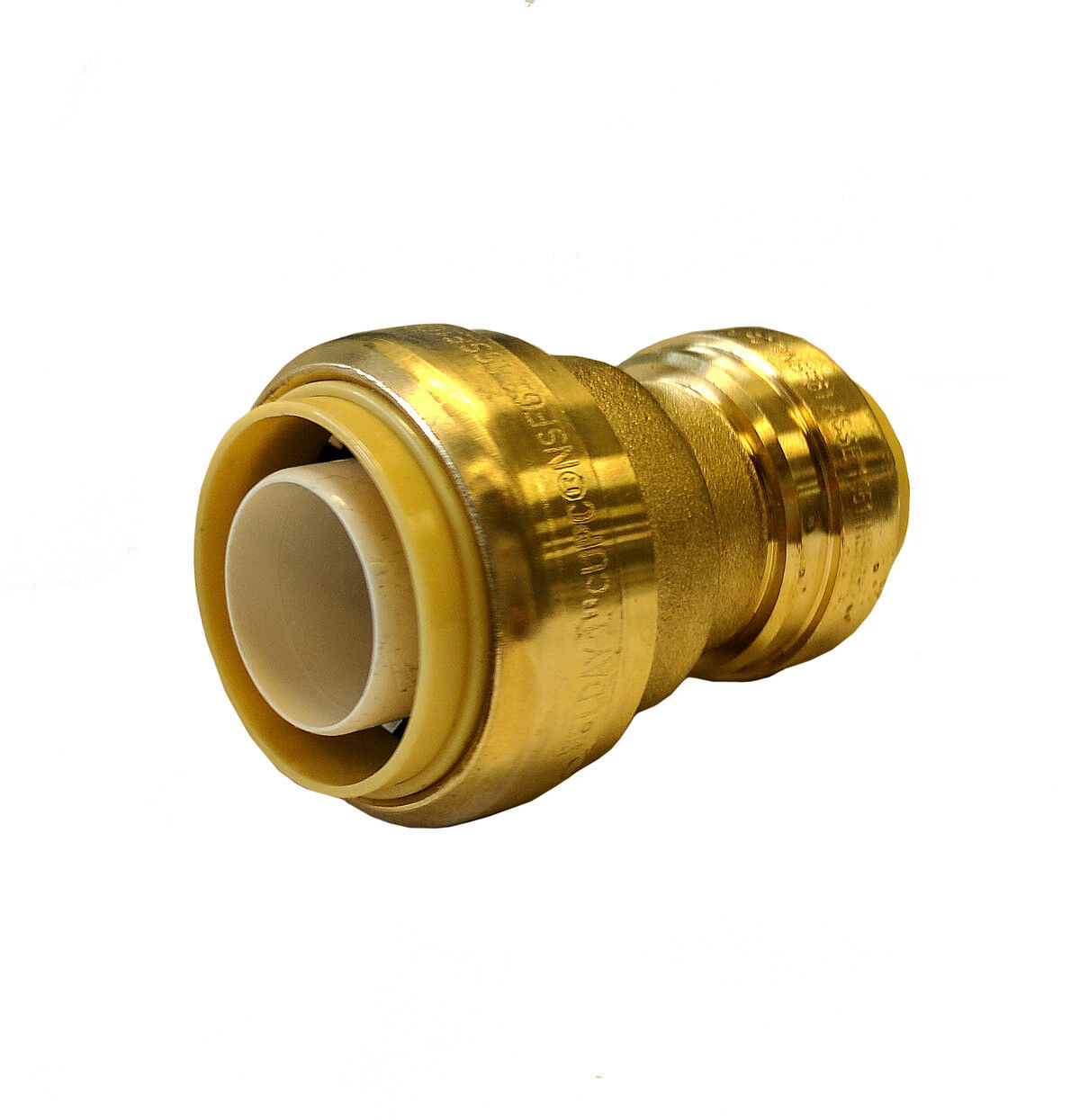 Libra Supply 3/4 X 1/2 Inch Push-fit Brass Coupling Push to ...