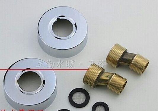 Easy Fit Chrome Wall Mounted Fixing Kit for Shower Valve & Bath Taps ...