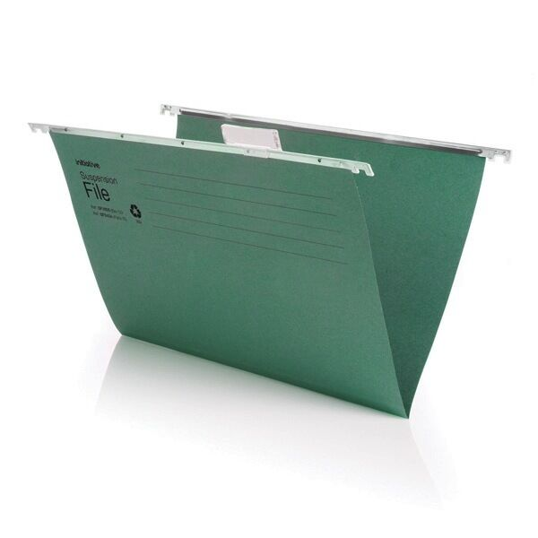 FOOLSCAP SUSPENSION FILES FOLDERS GREEN WITH TABS & INSERTS QTY: 10,50,100,200