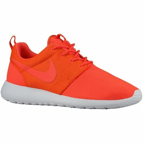 511881-663 Men's Nike Roshe Run Bright Crimson/Team Orange Authentic ...