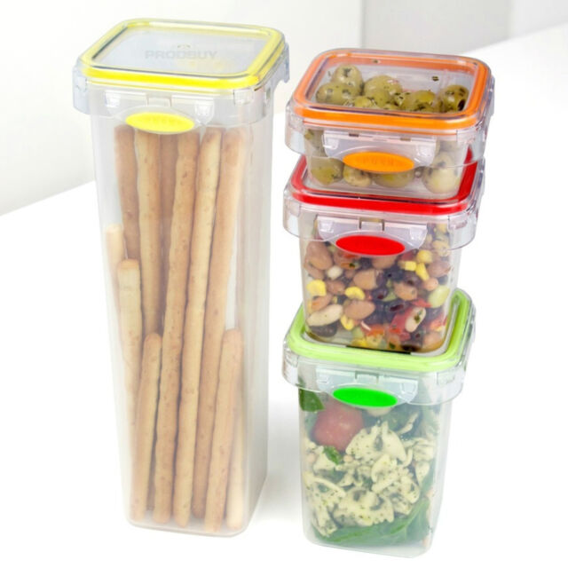 Tala 4 PCE Food Storage Jars Canisters Kitchen Containers Set Rice ...