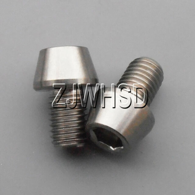 2pcs M7 x 10 mm Titanium Ti Screw Bolt Allen Hex Taper Socket Cap Head