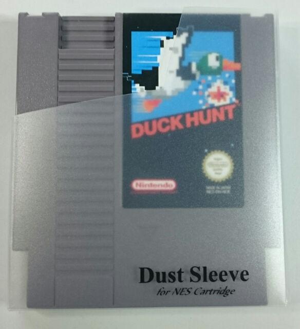 5x transparente Schutzhüllen,Schubber, für NES Spiele Module