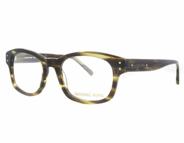 new michael kors 273m 310 olive horn size 50 20 140 optical eyeglasses frames - Michael Kors Glasses Frames