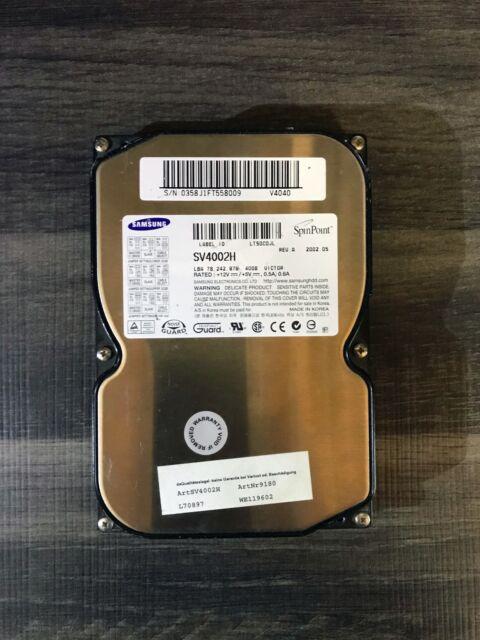 Samsung SpinPoint 40 GB;Intern;5400 RPM;8,89 cm (3,5 Zoll) (SV4002H) Festplatte